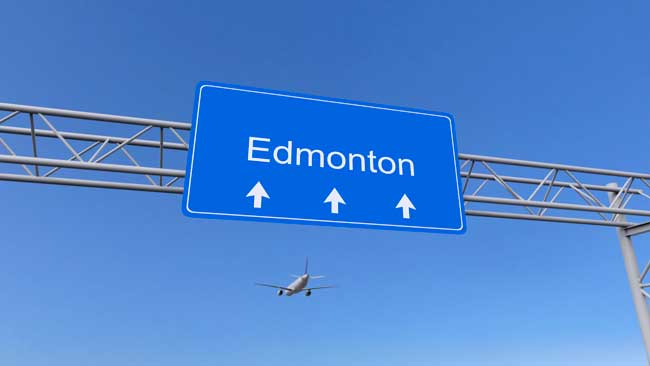 Edmonton Airport is the fifth busiest airport in Canada.