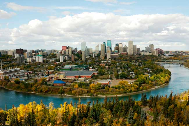 Edmonton is the capital city of the province of Alberta in Canada, with a total population of 932,546 inhabitants.